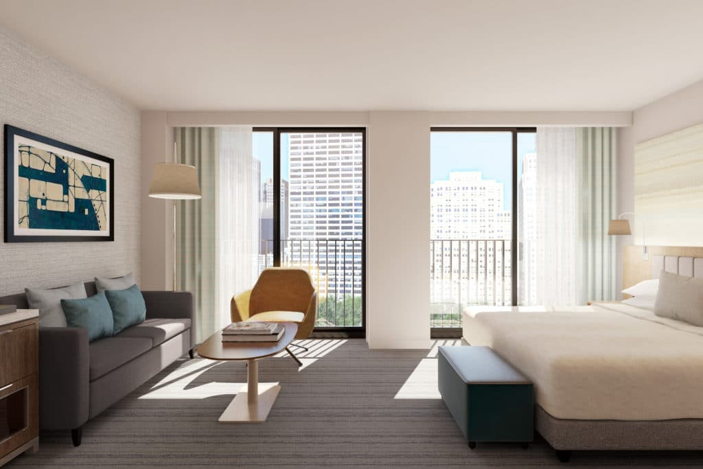 Suite with view of Bryant Park