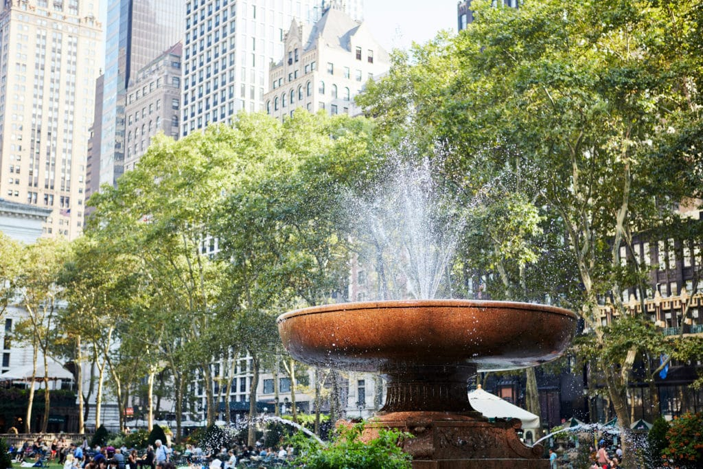 Fountain in Bryant Park