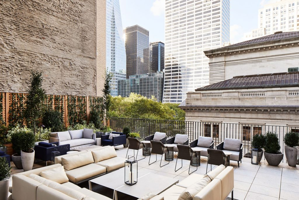 Midtown hotel terrace